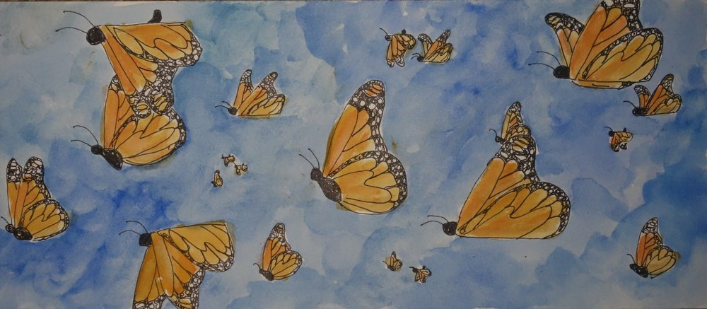 F. When the monarchs started streaming, like a river of wings, I knew it was time to start heading north too.