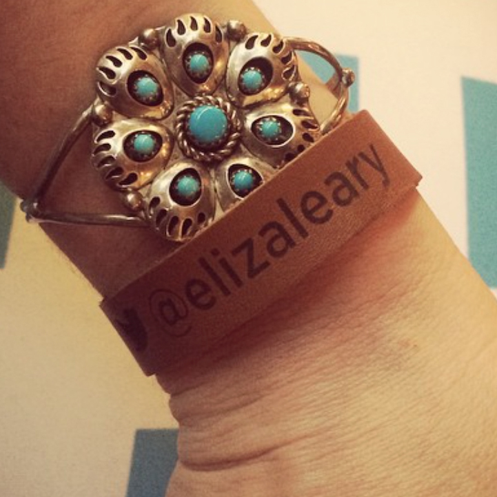 Leather VIP wristband bracelet