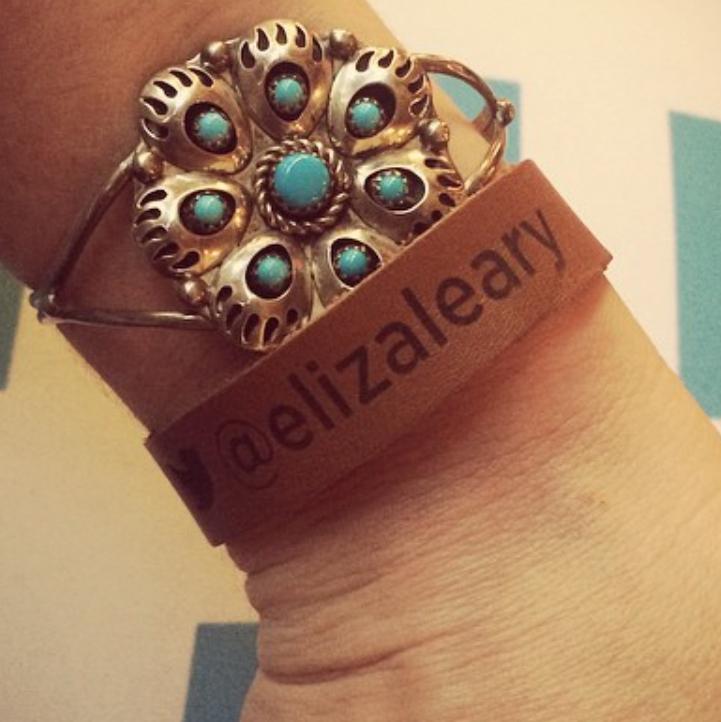 Leather VIP wristband bracelet