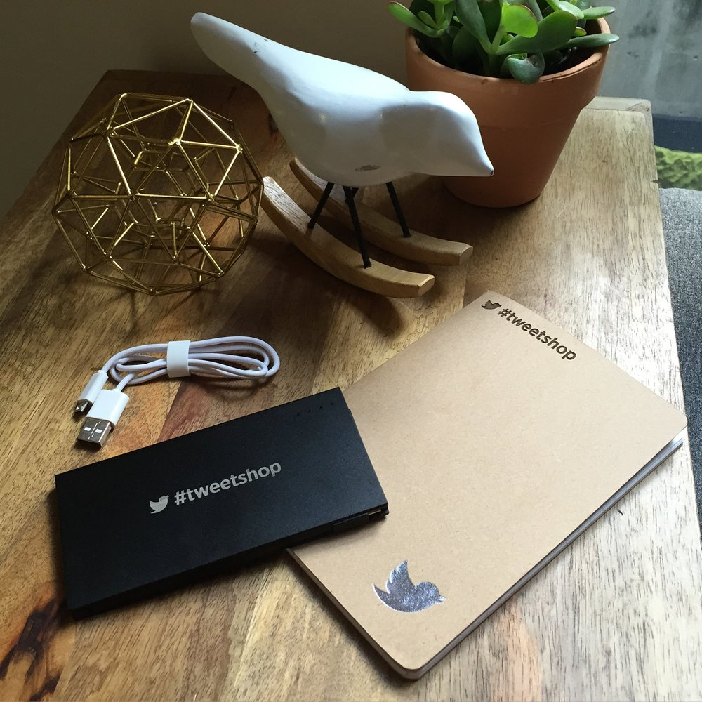 Portable phone charger and notebook