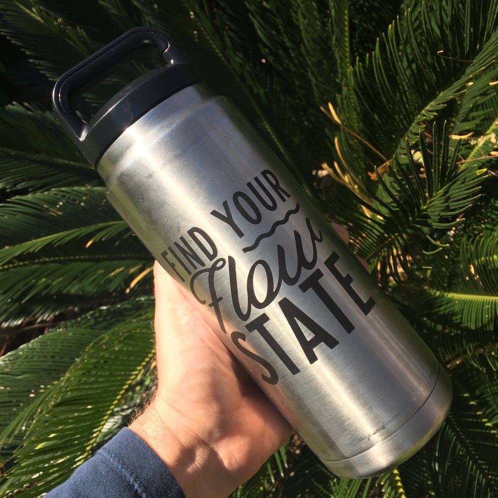 Laser engraved yeti water bottle