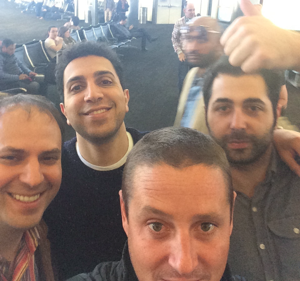 Dan Gould (Left) and Brian Norgard (Center) with Sean Rad, Founder of Tinder (Back Left)