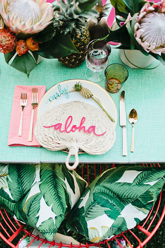 Hawaiian Themed Bridal Brunch | Decorating with Pineapples