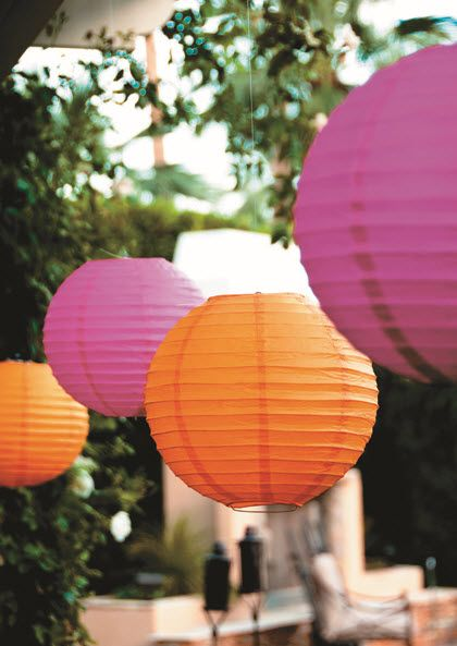 Paper Lanterns for your next Luau in every size & color!