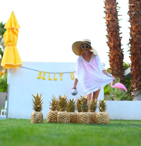 Pineapple bowling! Genius for the next luau