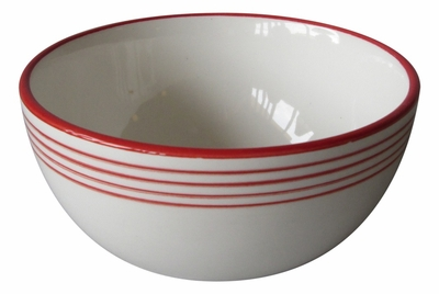 Linea Red Cereal Bowls by Azulina Ceramics