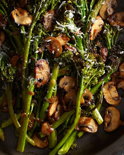 Roasted Mushroom Broccolini