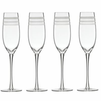 A Farm-to-Table Thanksgiving | kate spade new york Library Stripe Champagne Flutes at Table + Dine