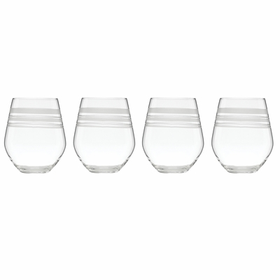 A Farm-to-Table Thanksgiving | kate spade new york Library Stripe Stemless Wine Glasses at Table + Dine