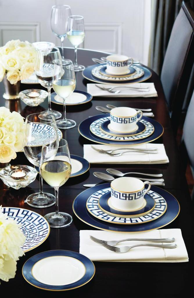 Set the table with Darius Gold China by Brian Gluckstein