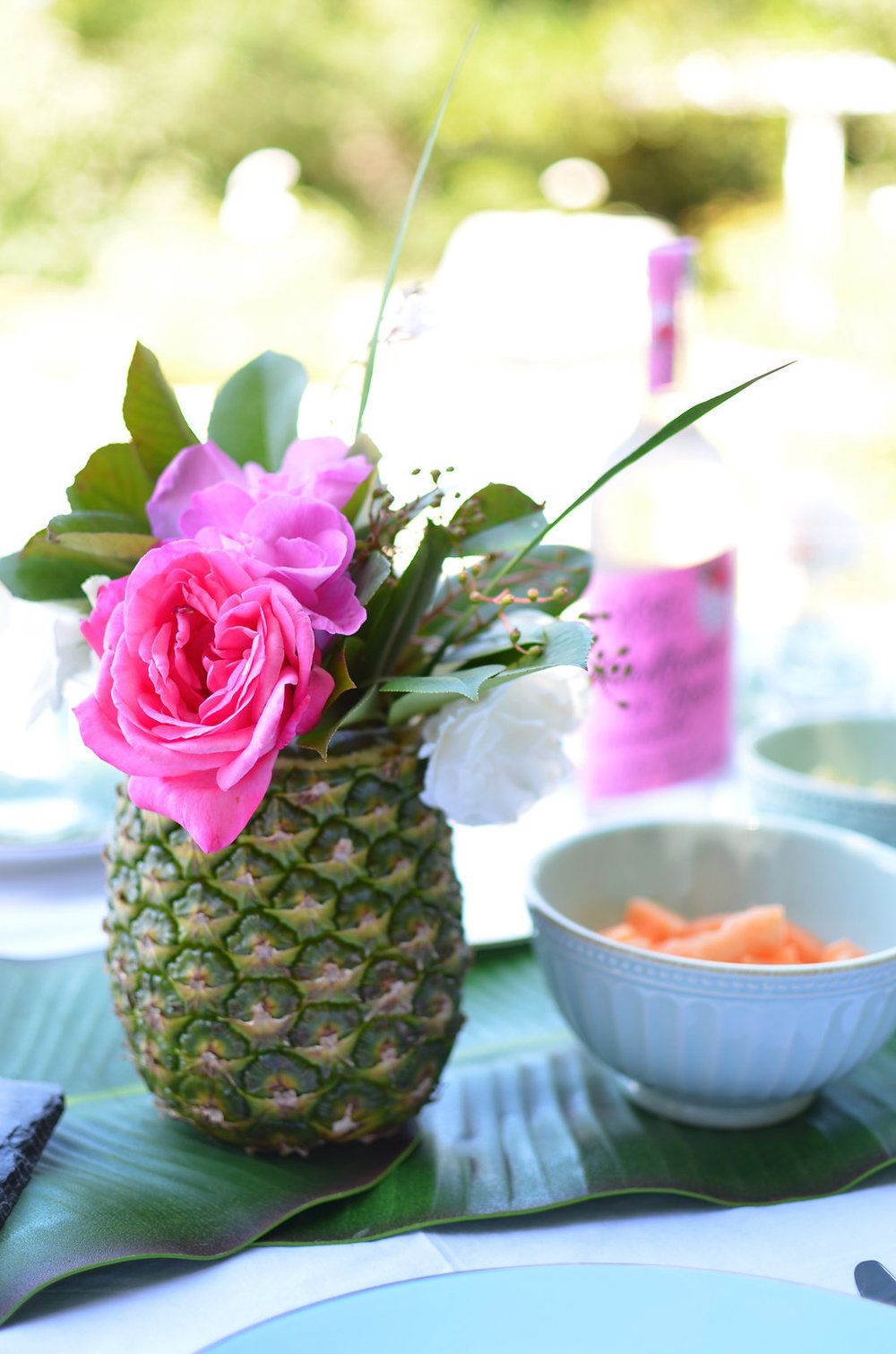 pinapple flower vase