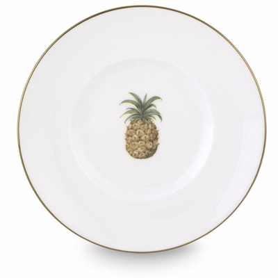 British Colonial Pineapple Bamboo Dessert Plate
