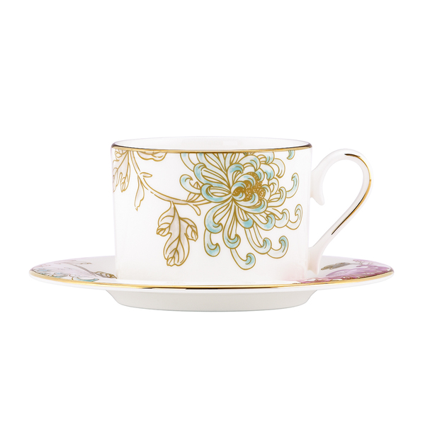 Marchesa Painted Camellia Cup & Saucer