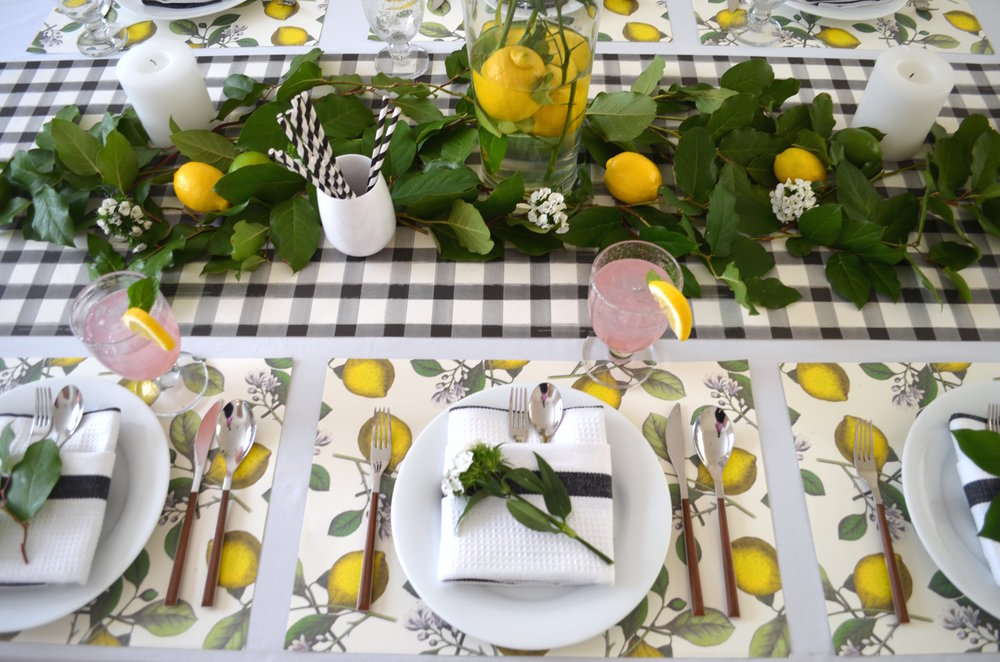 FRESH TO TABLE: SET A LEMON INFUSED TABLESETTING — Table + Dine by ...
