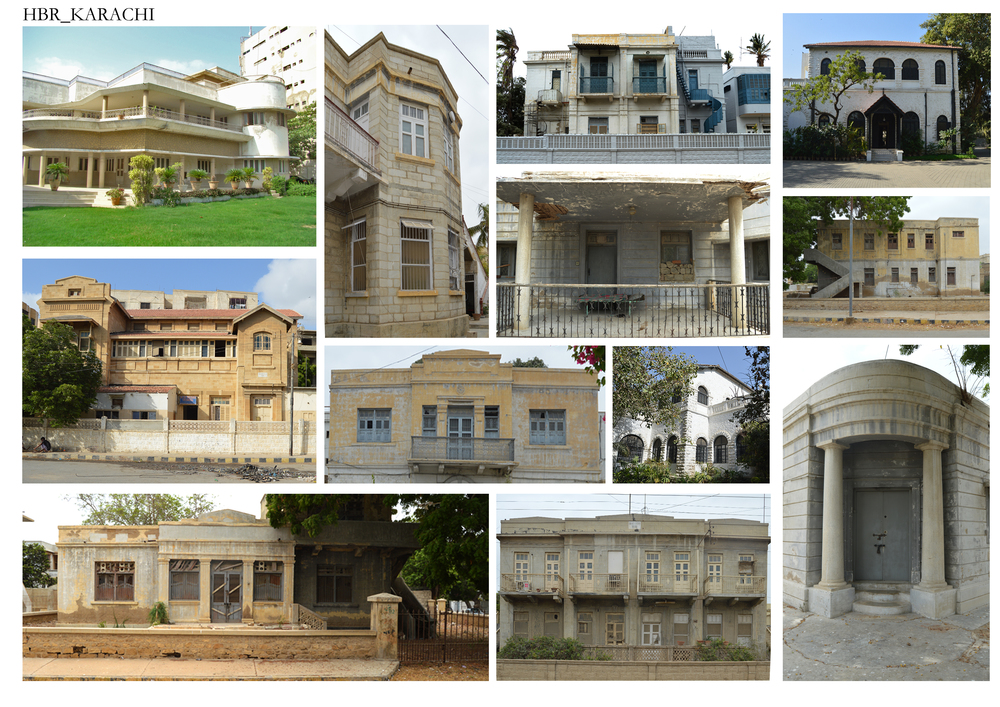 Documentation of Historic Bungalows of pre and post- partition styles, particularly Hindu, Sikh, Colonial and Art Deco. In Karachi bungalows located in the areas of Sohrab Kathrik Parsi Colony, Sirai Quarters, Old Town Quarters, Preedy Quarters, Garden Quarters, Rambagh Quarters, Bunder Quarters and Soldier Bazaar are being documented. The architectural typology consist of the bungalows material, structure, elements and spaces.  Symmetrical floor plans and elevation pertaining to the Colonial architecture while Hindu Architecture is an open, symmetry driven structure with perfect geometric shapes and courtyard. Architectural elements consist of high ceilings, porticos, verandas, ventilators and columns.