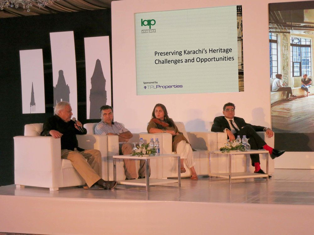 A Panel Discussion about Prevailing Laws for Heritage Buildings & Districts | Preserving Karachi's Heritage Challenges and Opportunities Seminar on 24th October, 2017 in Karachi, Pakistan  https://www.dawn.com/news/1366044/experts-stress-need-to-preserve-cultural-identity-in-heritage