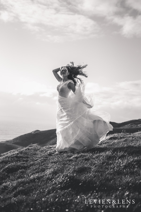 Stunning bride on the hill