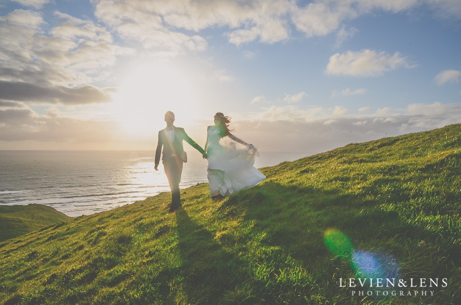 Bride and groom | Post-wedding session on the beach