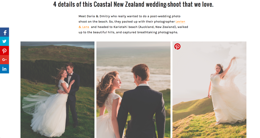 Costal new zealand post-wedding session | Auckland couples photographer