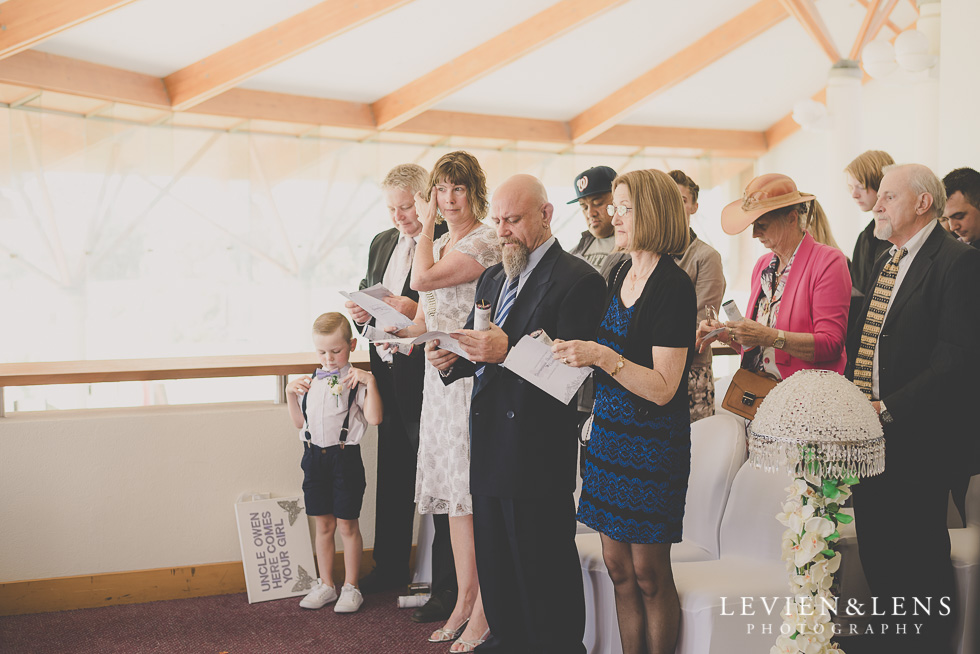 groom parents ceremony crying {Auckland wedding photographer}