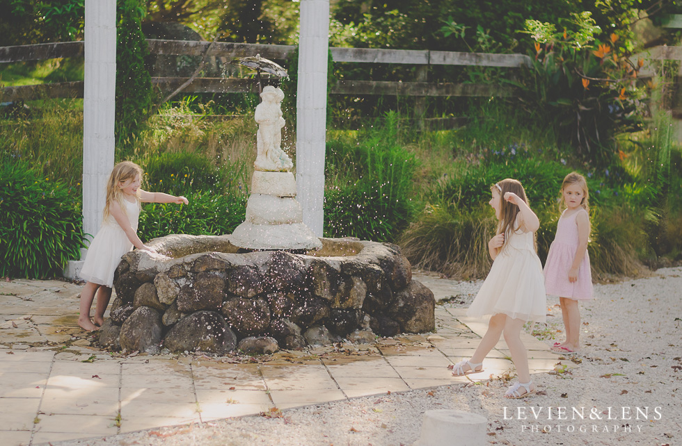 kids playing at reception {Auckland-Hamilton wedding photographer} Footbridge Lodge
