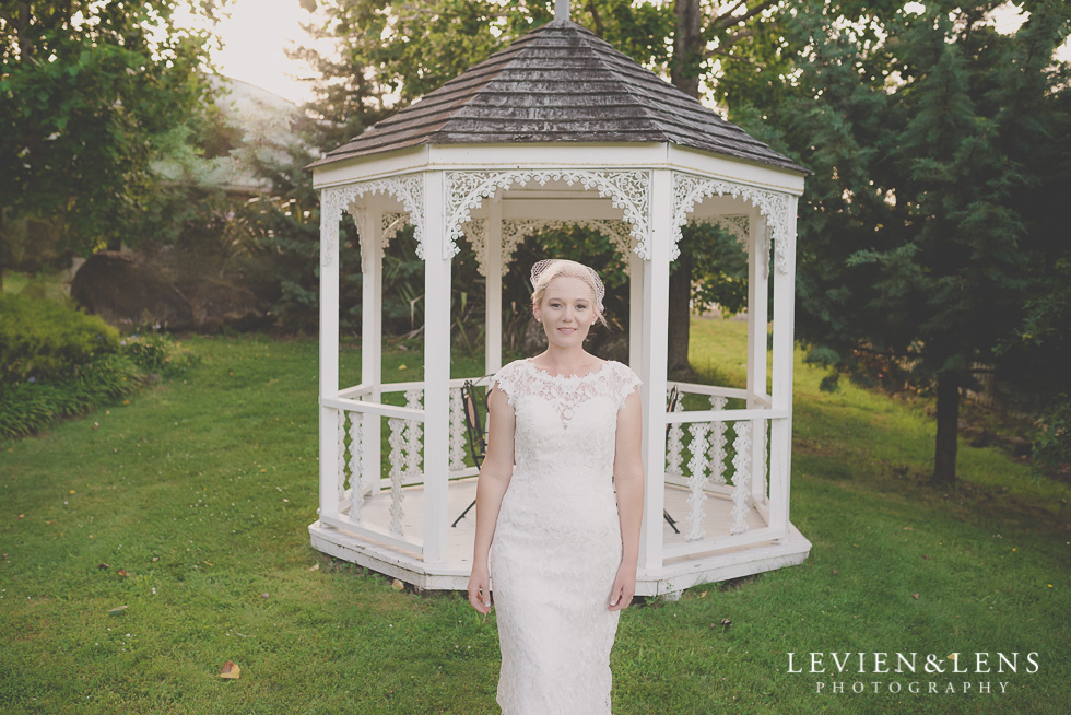 stunning bridal portraiture arbour {Auckland-Hamilton wedding photographer} Footbridge Lodge