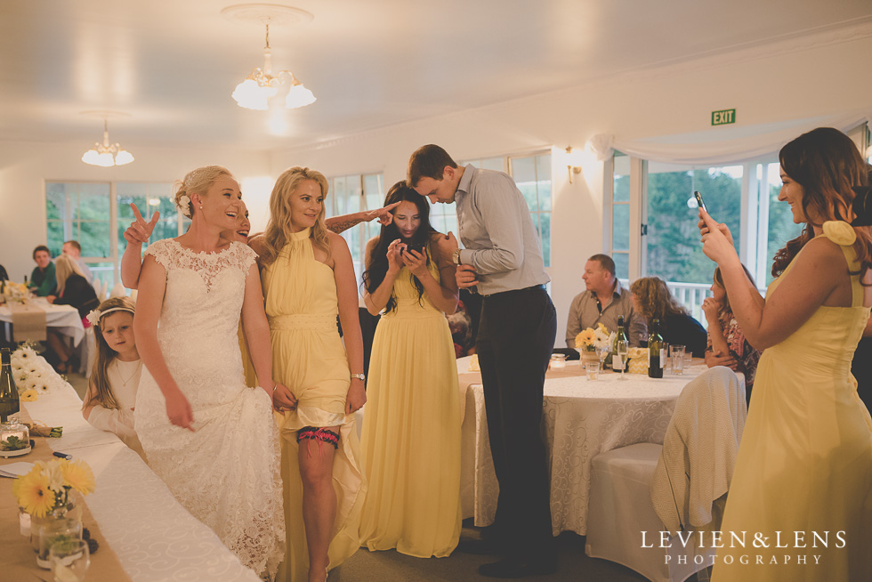 bride and bridesmaids reception {Auckland-Hamilton wedding photographer}