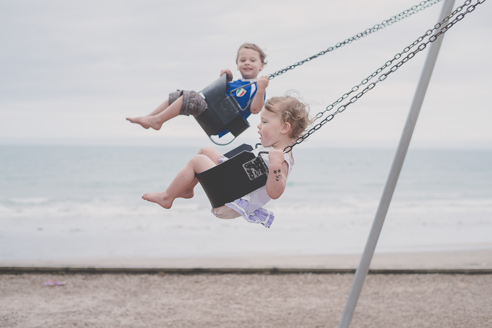boy girl swing beach 365 Project 2015 {Auckland-Hamilton lifestyle photographer}