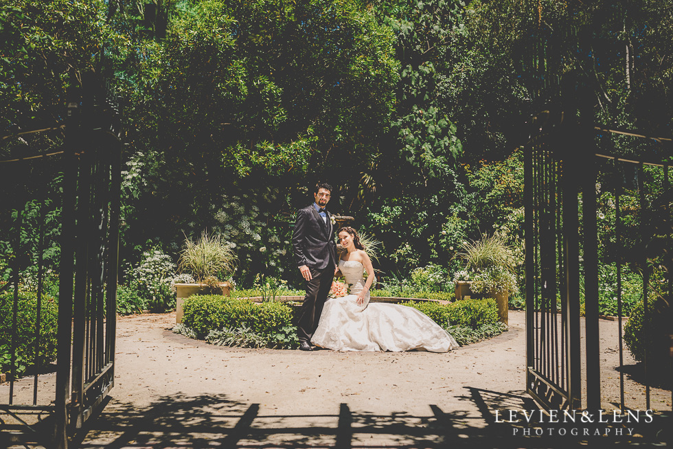 stunning couple in the gardens Parnell {Auckland lifestyle wedding photographer}