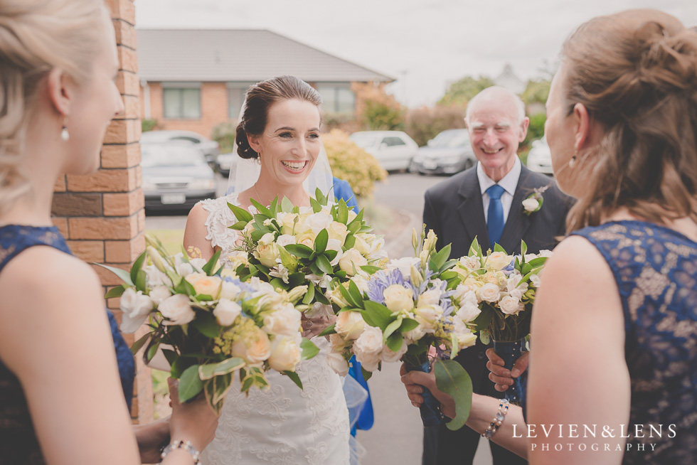 bride before ceremony St Anthony's Catholic Church Waiuku {Auckland wedding-couples-engagement photographer