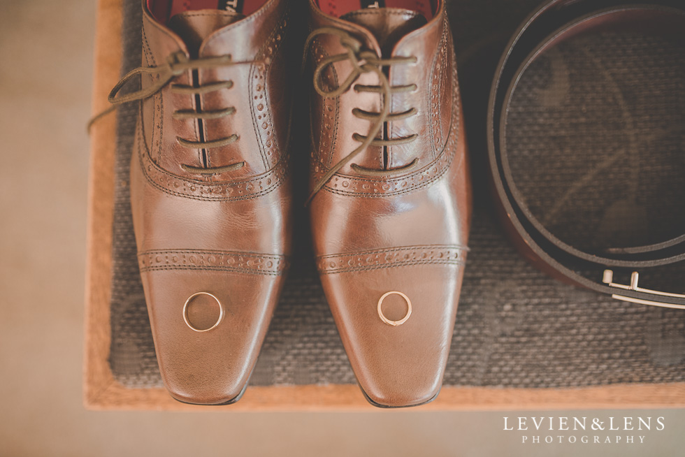 shoes rings groom getting ready {Auckland-Hamilton-Tauranga wedding photographer}