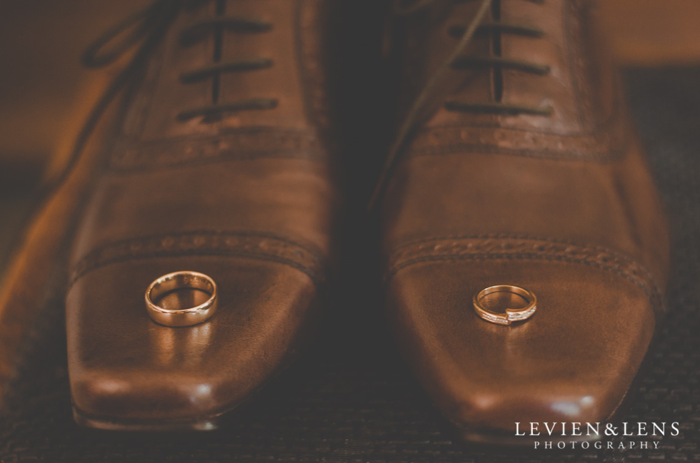 rings on shoes groom getting ready {Auckland-Hamilton-Tauranga wedding photographer}