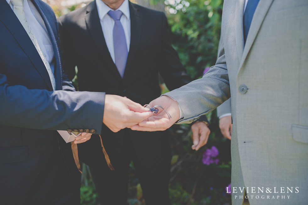 groom and groomsmen with rings {Auckland-Hamilton-Tauranga wedding photographer}