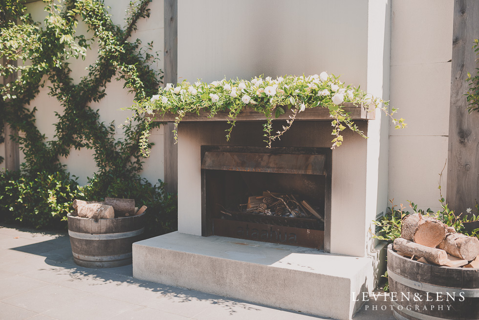 fireplace Ataahua Garden Venue {Tauranga wedding photographer}