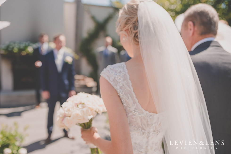 bride with father walking down aisle {Tauranga-Bay of Plenty wedding-couples-engagement photographer}