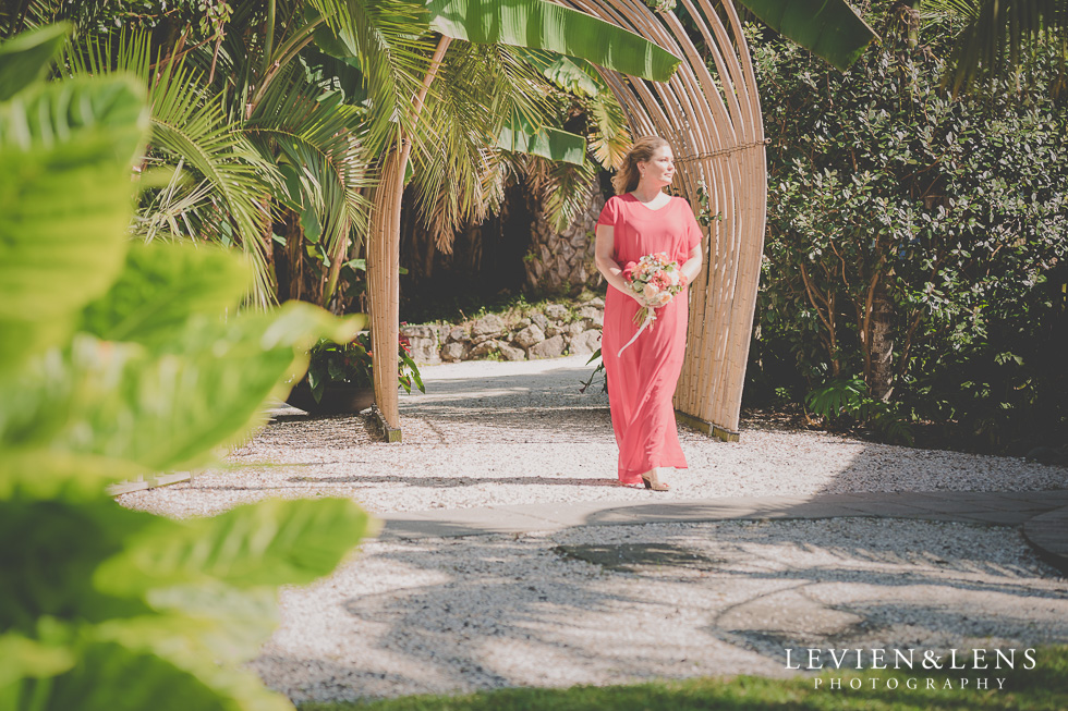 ceremony Landscendt Tropical Garden {Auckland lifestyle wedding photographer}