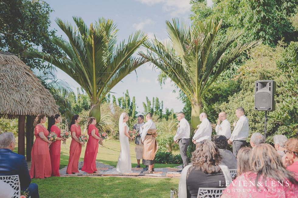 traditional tonga ceremony Landscendt Tropical Garden {Auckland lifestyle wedding photographer}