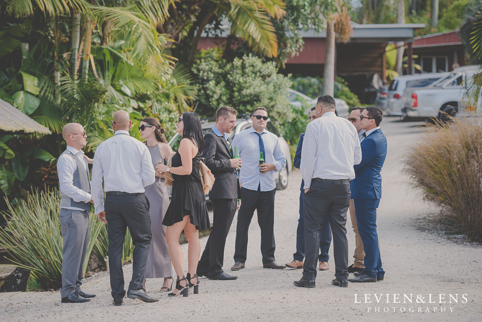 guests at ceremony Landscendt Tropical Garden {Auckland lifestyle wedding photographer}