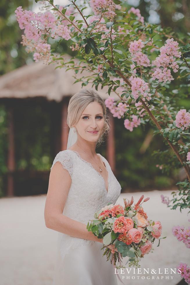 bridal portraiture Landscendt Tropical Garden {Auckland wedding photographer}