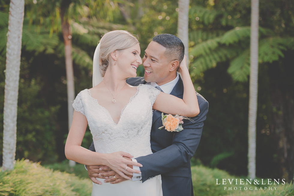 bride and groom intimate session Landscendt Tropical Garden {Auckland lifestyle wedding photographer}