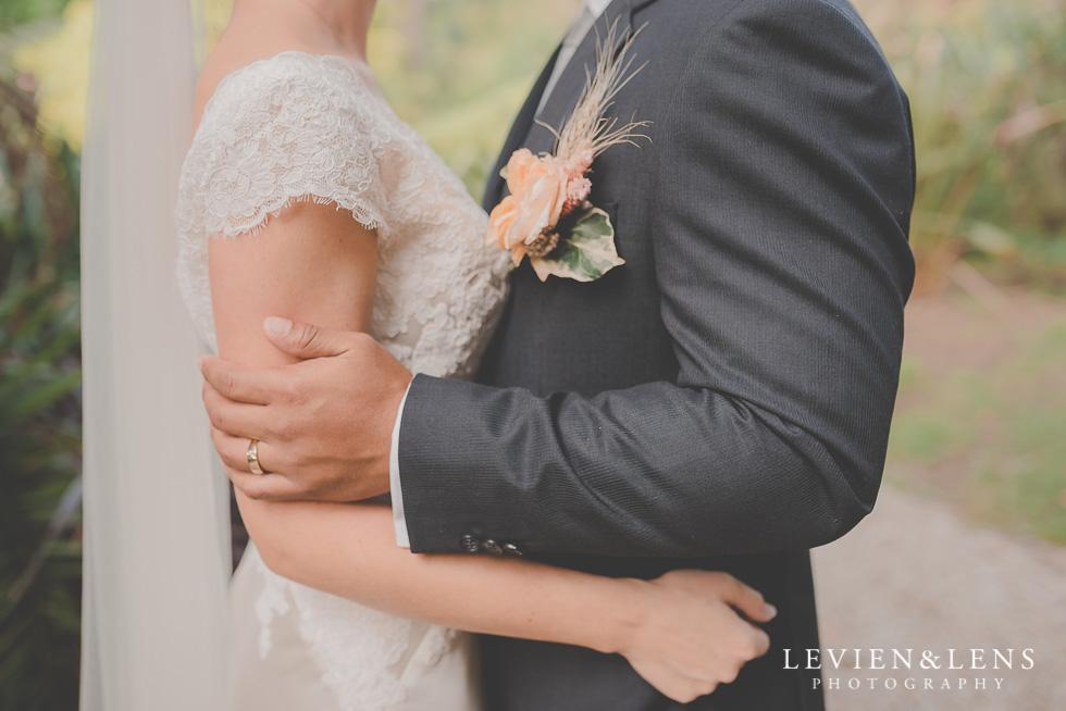 bride and groom hands Landscendt Tropical Garden {Auckland wedding photographer}