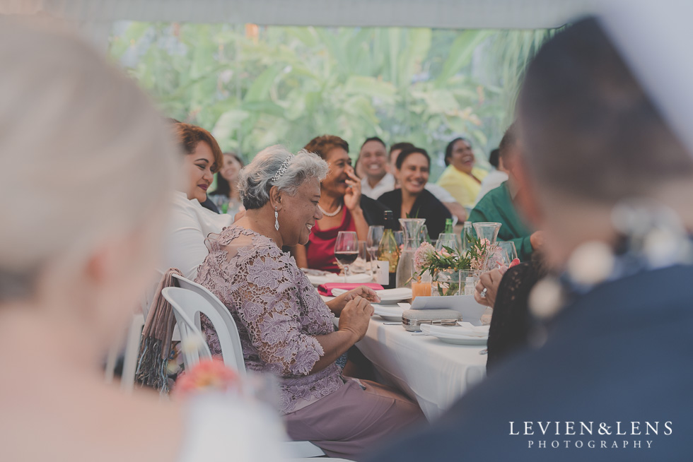 grooms mum emotions reception Landscendt Tropical Garden {Auckland wedding photographer}