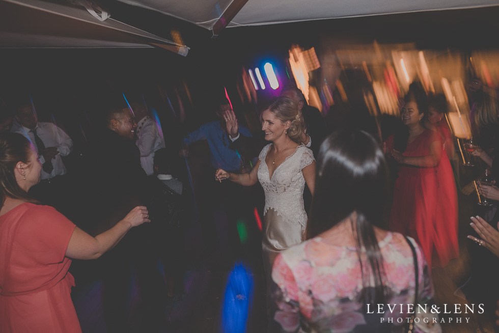 guests dancing Landscendt Tropical Garden reception {AUckland-Waikato-Bay of Plenty wedding photographer}