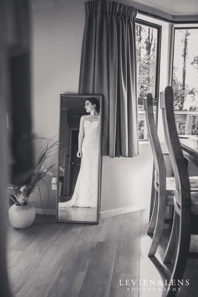 bride reflection Brigham - Herald Island {Auckland lifestyle wedding photographer}