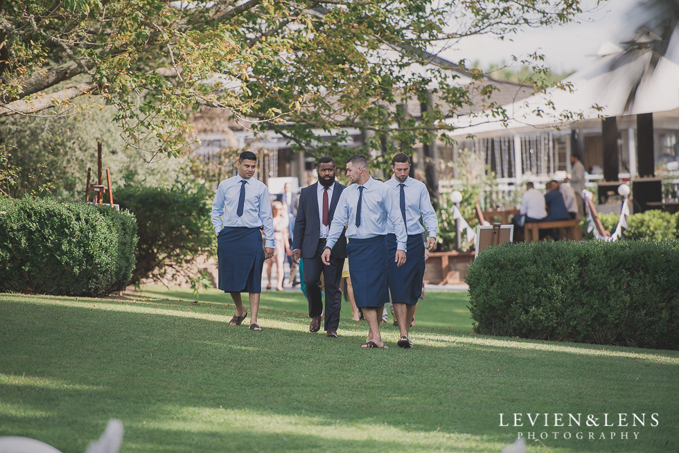 groom with groomsmen before the ceremony Brigham - Herald Island {Auckland lifestyle wedding photographer}