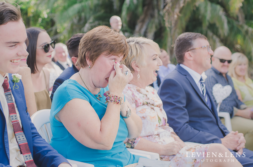 guests emotions ceremony Brigham - Herald Island {Auckland lifestyle wedding photographer}