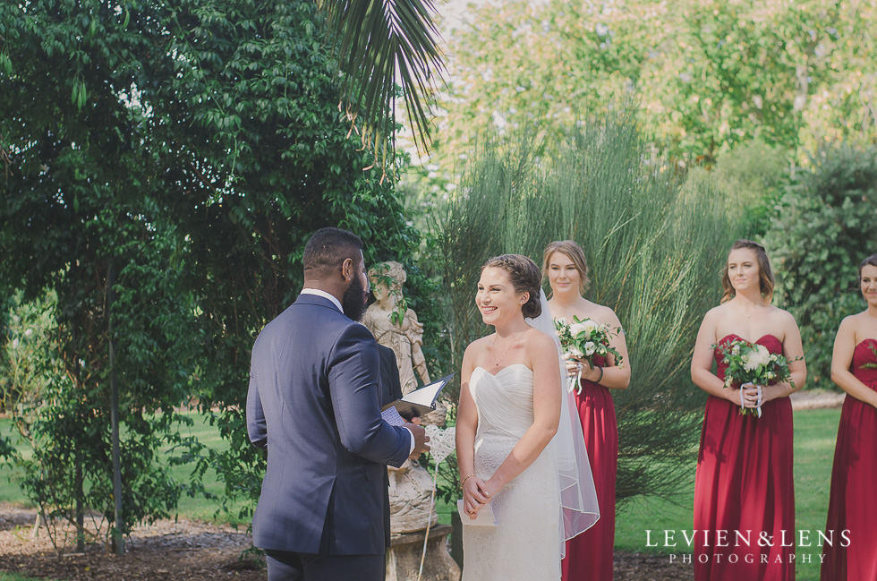 bride and groom ceremony Brigham - Herald Island {Auckland lifestyle wedding photographer}
