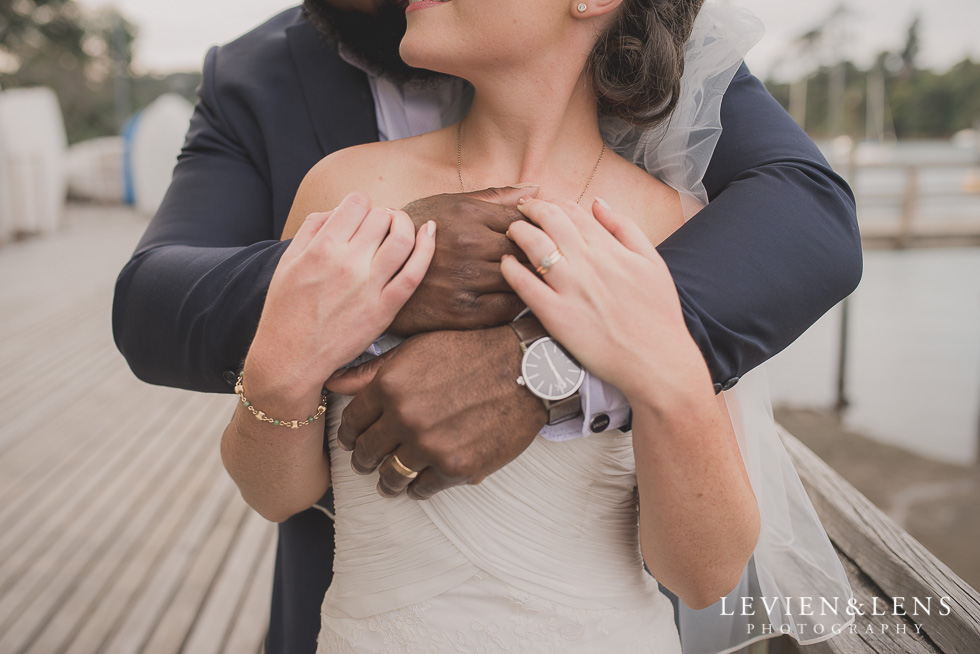 bride groom hands Brigham - Herald Island {Auckland lifestyle wedding photographer}