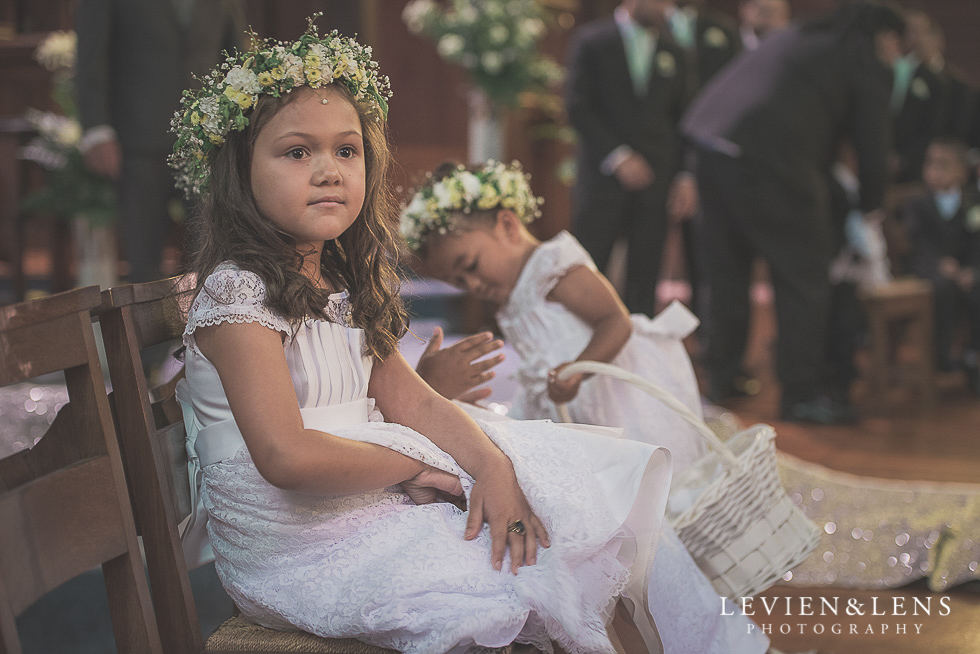 flower girls Church Of The Holy Sepulchre - Bastion Point {Auckland NZ lifestyle wedding-engagement photographer}