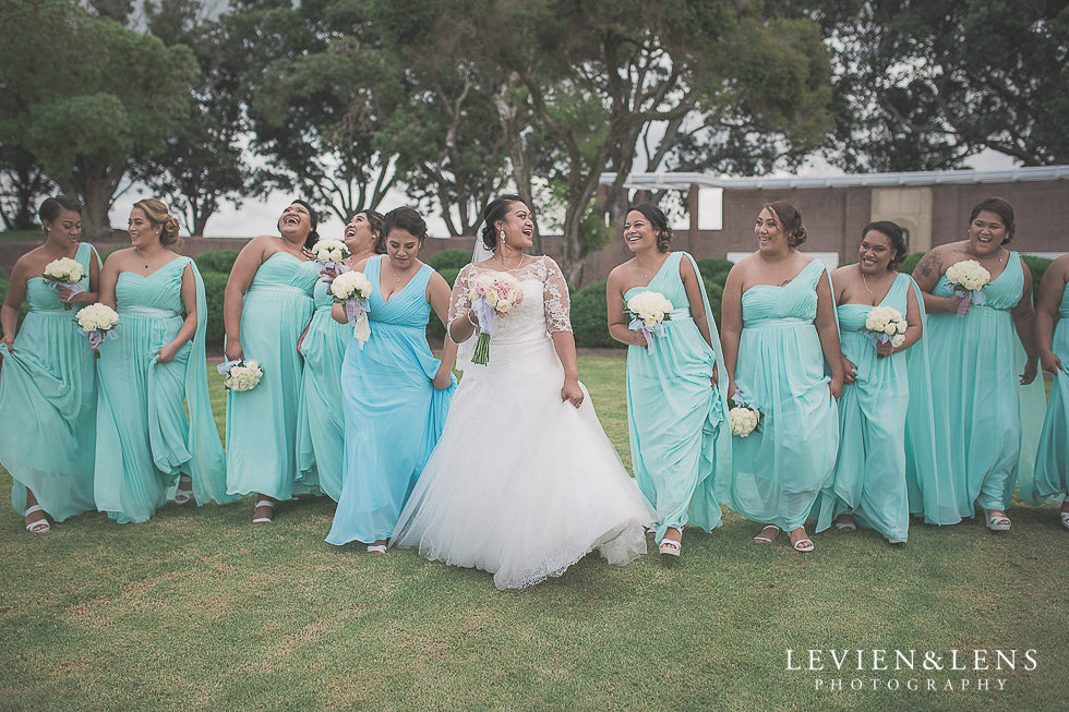 bridesmaids location photos Church Of The Holy Sepulchre - Bastion Point {Auckland NZ lifestyle wedding-engagement photographer}